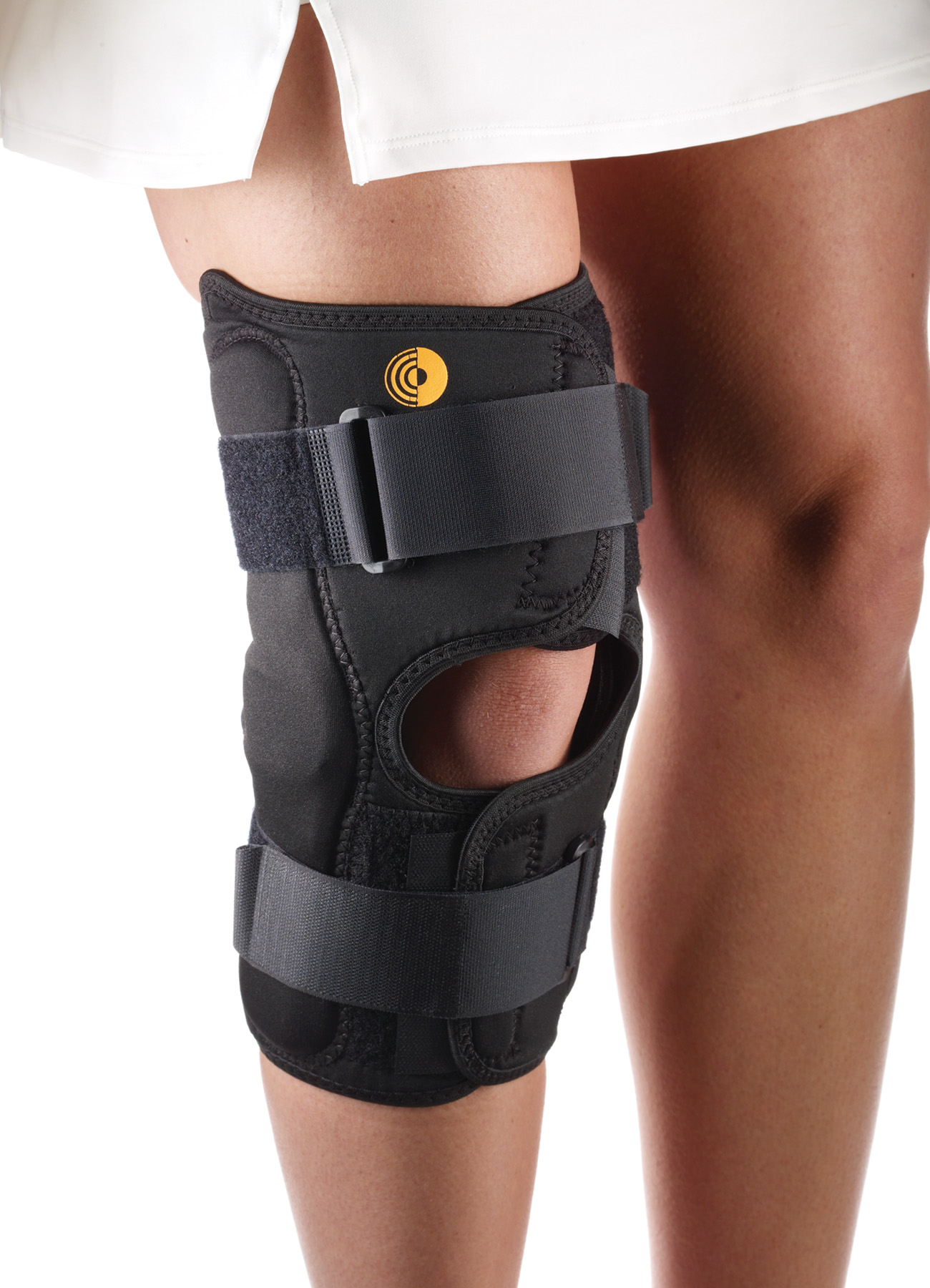 CoolTex Anterior Closure Knee Wrap w/Hinge